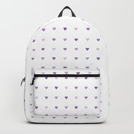 Tiny purple hearts seamless vector pattern Backpack