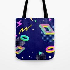 Retro Geometric Shapes Tote Bag