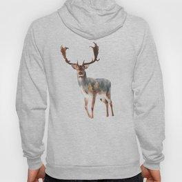 Deer Double Exposure Hoody