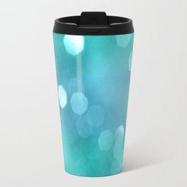 Aqua Blue OCEAN Bokeh #1 #shiny #decor #art #society6 Travel Mug