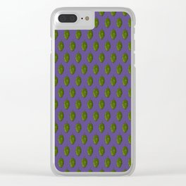 """Hops """"Ultra Violet"""" Pattern Clear iPhone Case"""