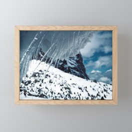 NATURE'S WONDER #1 - Icicles up in the mountains #art #society6 Framed Mini Art Print