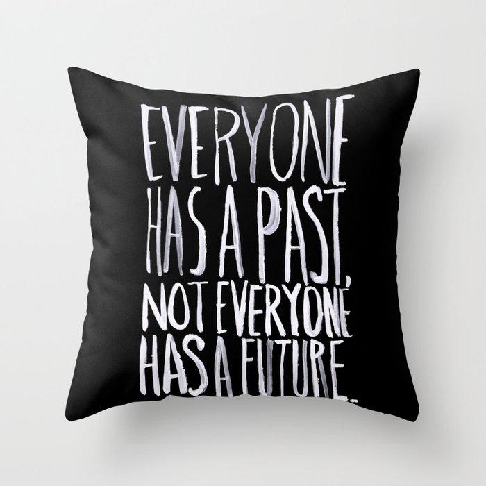 Past/Future Throw Pillow