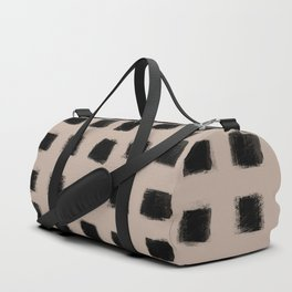 Polka Strokes - Black on Nude Duffle Bag
