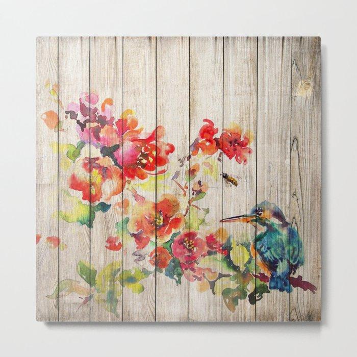Spring on Wood 04 Metal Print
