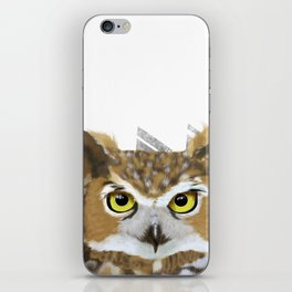 Great Horned Owl & Poly Thoughts iPhone Skin