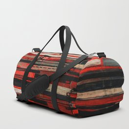 Stripe Layers in Red and Gray Duffle Bag