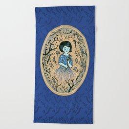 Hidden place - forest girl 2 Beach Towel