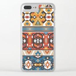 American indian ornate pattern design Clear iPhone Case