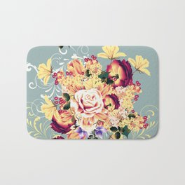 Roses and lilac. Beautiful victorian design Bath Mat