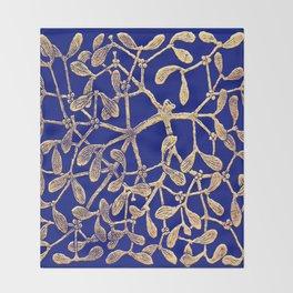 Mistletoe Blue Throw Blanket