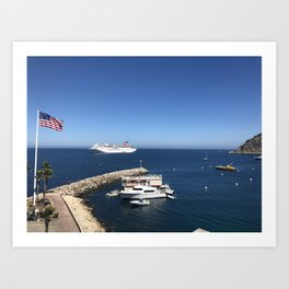 Cruise Ship Art Print