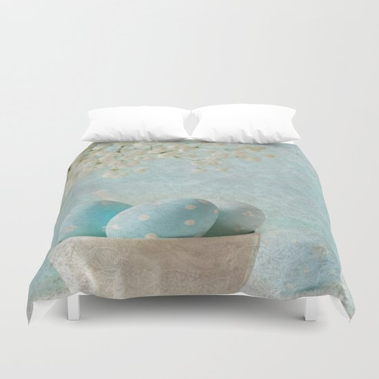Limpet shell color eggs  Duvet Cover