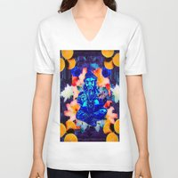ganesh V-neck T-shirts featuring ganesh by Candice Steele Collage and Design
