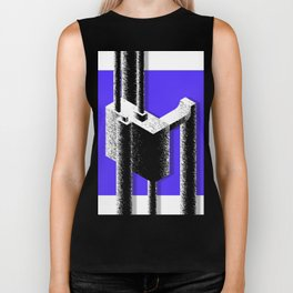Abstract construction Biker Tank