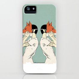Foxes Print take 2 iPhone Case