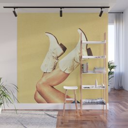 These Boots - Yellow Wall Mural