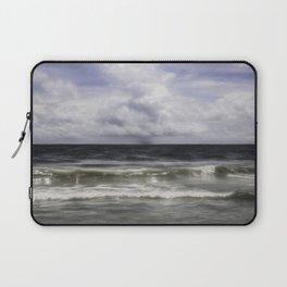 Rain on the Sea Laptop Sleeve