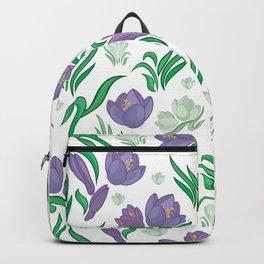 Crocus background Backpack