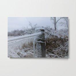 Iced Over Metal Print