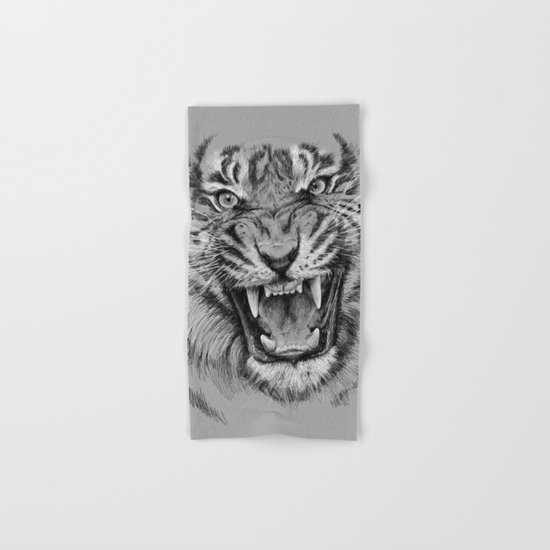 Tiger Portrait Animal Design Hand & Bath Towel