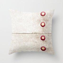 Four on Gray Throw Pillow