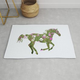 The horse is the meadow Rug
