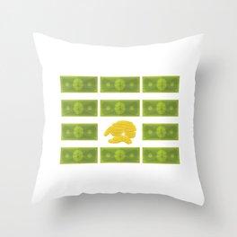 Set of money Throw Pillow