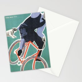 Sporting Fever - Russian Avant Garde Movie Poster Stationery Cards
