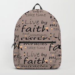 Live by faith Backpack