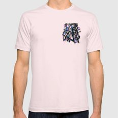Sweatpants and Breakfast for Dinner Mens Fitted Tee MEDIUM Light Pink
