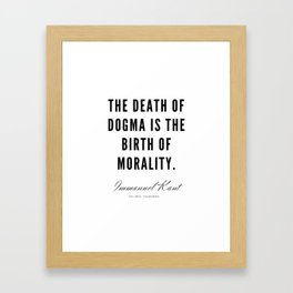 14  |  Immanuel Kant Quotes | 190810 Framed Art Print