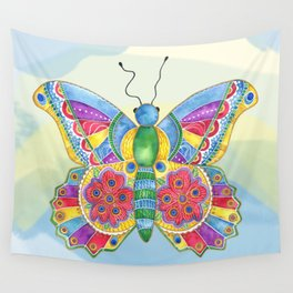 Butterfly Pizzazz Wall Tapestry