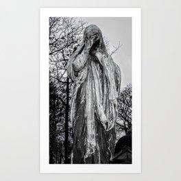 B&W Photography, Grief Art Print