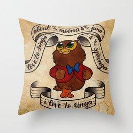 I Love to Singa Throw Pillow