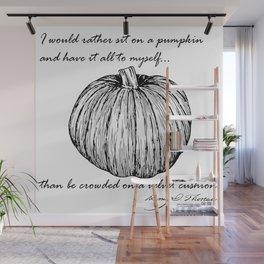 Thoreau's Pumpkin Wall Mural