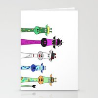 giraffes Stationery Cards featuring Giraffes by Jozi