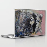 raccoon Laptop & iPad Skins featuring Raccoon by Michael Creese