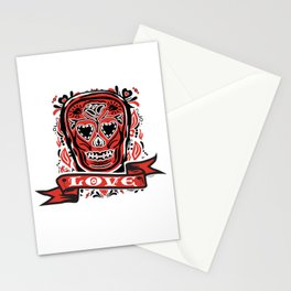 Love Skull Stationery Cards