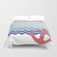 nautical Duvet Covers featuring Nautical  by emain