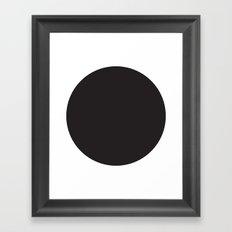 black circle Framed Art Print