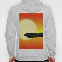 DC-3 passing sun Hoody