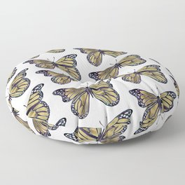 Gold Butterfly Floor Pillow