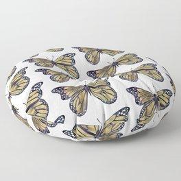 Gold Butterfly Floor Pillow