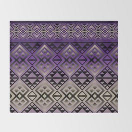 The Lodge (Purple) Throw Blanket