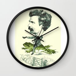 Mark Twain on a Frog Wall Clock