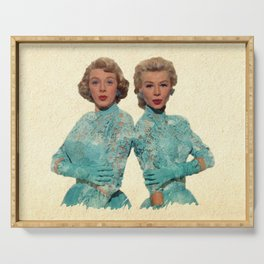 Two Different Faces... (Sisters) Serving Tray