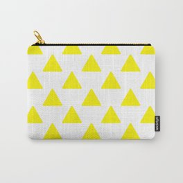 yellow triangles Carry-All Pouch