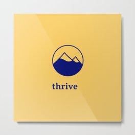Thrive Mountain Metal Print