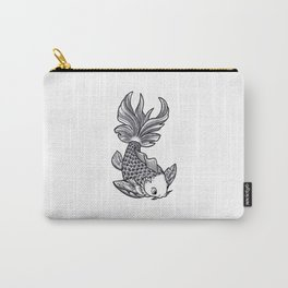 Fish handmade Drawing, Made in pencil, charcoal and ink, Tattoo Sketch, Tattoo Flash, Carp Koi Carry-All Pouch